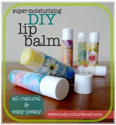 DIY all-natural super-moisturizing lip balm. Hands-down, this balm is the bomb (and easy to make, too!).