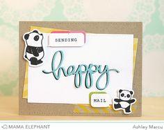 Mama Elephant: Happy Everything Mama Elephant Stamps, Happy Everything, Elephant Design, Happy Mail, Cool Cards, I Card, Diy Crafts, Crafty, Perler