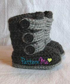 Baby Ugg type crochet boots
