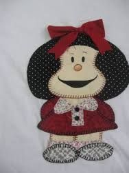 Baby Look Mafalda Embroidery Patterns, Quilt Patterns, Machine Embroidery, Patch Quilt, Hand Applique, Sewing Appliques, Kids Patterns, Kids Pillows, Sewing Dolls