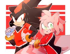 From Shadow and Amy~ by on DeviantArt Shadow And Amy, Sonic And Shadow, Amy Rose, Shadow The Hedgehog, Sonic The Hedgehog, Shadamy Comics, Tim Tam, Villainous Cartoon, Sonic Fan Art
