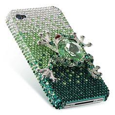 iPhone 4/4S 3D Brilliant Diamond Case Green FROG