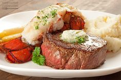 Surf and turf is a classic special occasion dinner and easy to make at home. Our easy-to-follow recipe instructions ensure a perfectly cooked filet and a lobster tail that's moist and tender.