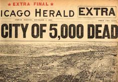 Chicago Herald masthead, December 7, 1917. Aerial view of the damage to Halifax as a result of two ships colliding in the harbour (one filled with 3,000 tons of explosives). The city was destroyed in the world's biggest explosion until the advent of nuclear weapons. The explosion was followed by a tidal wave, city-wide fires and a crippling snowstorm