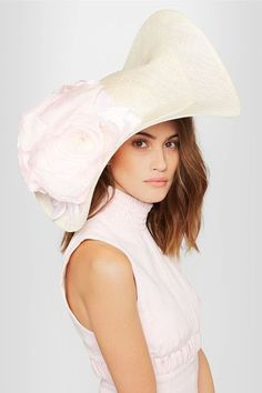 Philip Treacy - Embellished Sinamay Hat - Ivory - One size