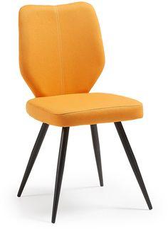 Nati stoel zwart / oranje - LaForma