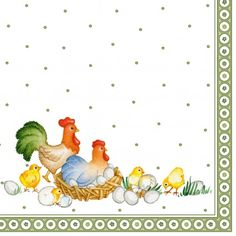 Easter Accessoires Farmers Spring Napkin Family L 33x33cm