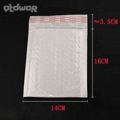 Biały 160x140 MM 10 sztuk/partia Wysokiej Jakości Folia Bąbelkowa Koperty Bąbelkowe Białe Koperty Torby