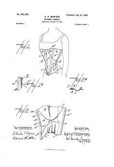 1900 corset patent