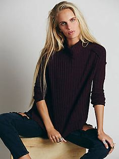 Free People We The Free Rested and Ready Mock Neck, $78.00