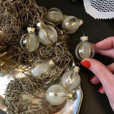 Малый шар на елку, стекло, набор 8 шт.