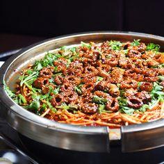 Bul Gopchang, or spicy grilled intestines at Mu So Bul Gopchang in Gangseo-gu, Seoul, Korea!