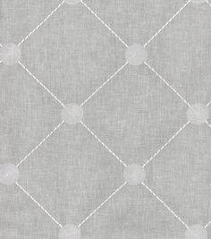 Kelly Ripa Upholstery Fabric-Fanfare Emb Cloud