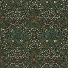 Morris & Co - Blackthorn. £ per metre Blackthorn Fabric by Morris & Co., suitable for curtains, cushions and upholstery. Wallpaper Online, Wallpaper Samples, Fabric Wallpaper, Pattern Wallpaper, Antique Wallpaper, Craftsman Fabric, Craftsman Wallpaper, William Morris, Pierre Frey