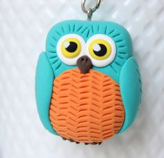 Hey, I found this really awesome Etsy listing at https://www.etsy.com/listing/246930262/owl-keychain-ooak