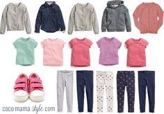 Kids' capsule wardrobe
