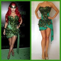 Sexy Kim Kardashian Poison Ivy Halloween Costume Comic con Custom made size XS,S,M,L by delphina123 on Etsy https://www.etsy.com/listing/128453390/sexy-kim-kardashian-poison-ivy-halloween