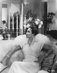 Dolores del Rio and her fierce pose