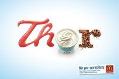 Creative Typography Print Ads
