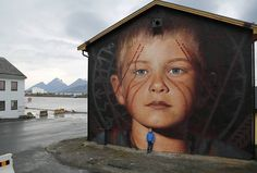 Nordland, Norway: new piece by Jorit Agoch.