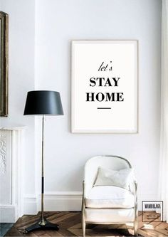 A3 plakat_let's stay home - MAMBALAGA - Boże Narodzenie
