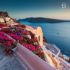 Santorini Greece Sunset view  Greek Island - Jewelry shop handmade greek art