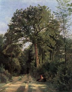Forest Entrance at Ville d'Avray - Camille Corot