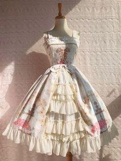 Pretty Outfits, Pretty Dresses, Beautiful Dresses, Cute Outfits, Kawaii Dress, Kawaii Clothes, Kawaii Fashion, Lolita Fashion, Emo Fashion