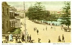 Esplanade Manly, near Sydney. Manly Sydney, Avalon Beach, Bronte Beach, Sydney Beaches, Pictures Of People, Historical Pictures, Live In The Now, North Shore, Aerial View