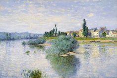 The Seine at Lavacourt, 1880,  Claude Monet