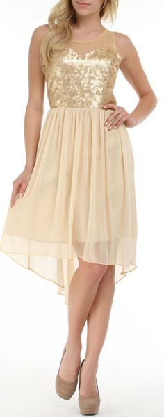 Sweetheart Sequin Dress / romeo + juliet