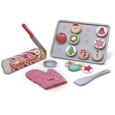 Melissa Doug Slice and Bake Christmas Cookie Play Set ($19) ❤ liked on Polyvore featuring toys