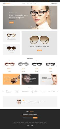 Template 58935 – Ensegna Themes - Famous Last Words Magento Design, Ecommerce Web Design, Glasses Shop, Glasses Online, Design Sites, Glass Store, Celebrity Jewelry, Art Deco Jewelry, Website Template