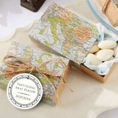 Around the world map favor box set of 24 party favour boxes wedding world map favor boxes gumiabroncs Image collections