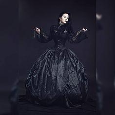 """GothdamnAmazing on Instagram: """"@evil_wife_ . . . #gothdamnamazing"""" Sad Eyes, Gothic Beauty, Victorian, Instagram, Dresses, Fashion, Vestidos, Moda, Goth Beauty"""