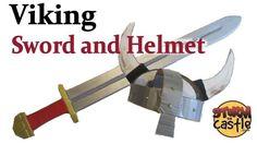 A viking sword and helmet