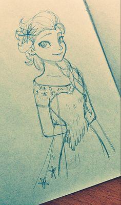 artist? ||| Elsa, princess, queen, Disney, Frozen
