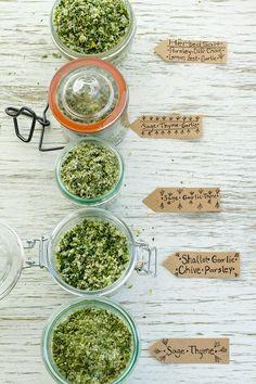 Variety of Herb Salts