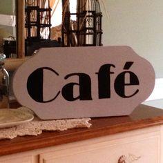 cafe sign - Cork Cafe Decor