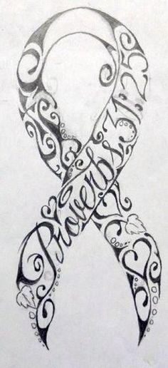 Breast cancer ribbon tattos