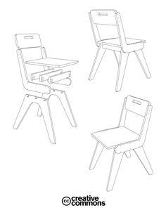 // slim chair // // spider chair // // v-chair //