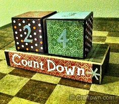 Free Christmas Craft Idea - Countdown Blocks