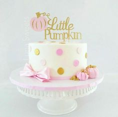 Little Pumpkin Glitter Cake Topper ~ Little Pumpkin First Birthday Pink and Gold ~ Baby Shower Little Pumpkin Cake Topper ~ Fall Cake Topper Pumpkin Birthday Cakes, Pink Pumpkin Party, Fall Birthday Cakes, Fall First Birthday, Fall 1st Birthdays, Pumpkin 1st Birthdays, Pumpkin Birthday Parties, Pumpkin First Birthday, Baby Girl 1st Birthday