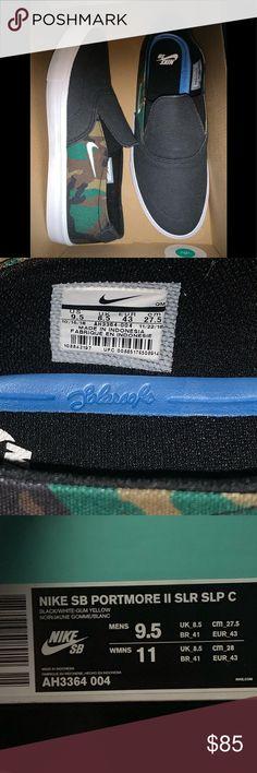 Nike NIKE SB port more 2 sneakers slip ons men PORTMORE 2 SLR SLP C black black AH3364 004