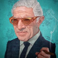 The great Aristotle Onassis. #aristotleonassis #onassis #greek #greece #illustration #sketch #portrait #money #rich #wealth #art #artist #like #great #pencil #color #cigar #sunglasses #vintage #retro #old #tanker #followme #famous #instaart...