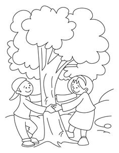 Celebrate Trees Coloring Page See the category to find more printable coloring sheets. Also, you could use the search box to find what you want. Earth Coloring Pages, Summer Coloring Pages, Tree Coloring Page, Cartoon Coloring Pages, Animal Coloring Pages, Coloring Pages To Print, Sunflower Coloring Pages, Planet Crafts, Hello Kitty Colouring Pages