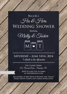 af81b17d38a Couples Wedding Shower Invite Couples Shower Invitations