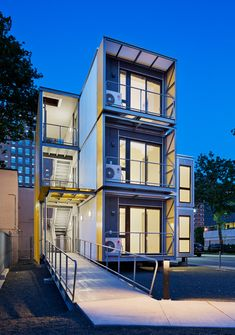 "Modular New York homes by Garrison Architects to ""create a blueprint for post-disaster housing""."