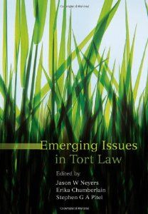 Emerging Issues in Tort Law by Erika Chamberlain. Hart Publishing; Edición: First Edition (29 de mayo de 2007)
