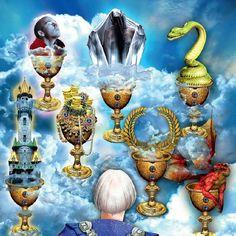 Visions from Tarot Illuminati  The Seven of Cups by galaxy.tone via http://ift.tt/1RAKbXL